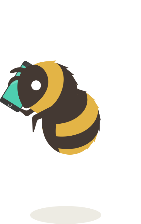 Bee on the phone