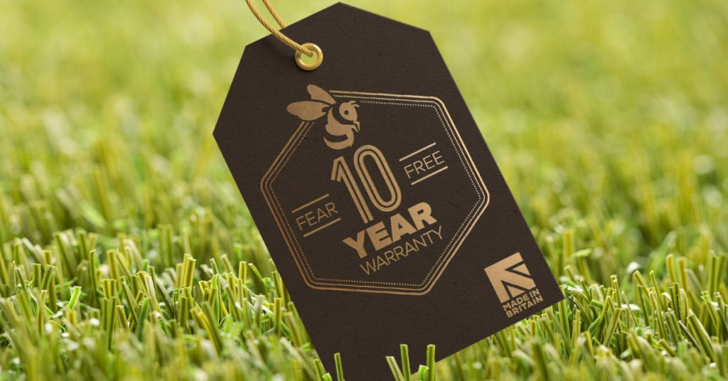 All of our grass comes with a 10 year warranty
